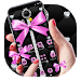 Download Pink Black Minny Bowknot Theme 1.1.1 APK
