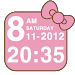 Download Pink Kitty bow Clock Widget 3.0.8 APK