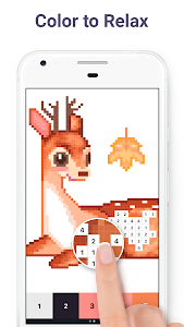 screenshot of Pixel Art: Color by Number version 4.3