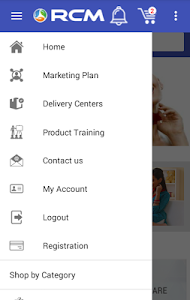 screenshot of RCM Business Official App version 1.7.3