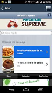 screenshot of Receitas Supreme version 4.60