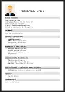 screenshot of Resume Creator - Free version 5.3