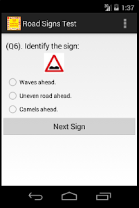 Download Road And Traffic Signs Test 1.4 APK