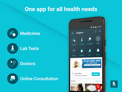 screenshot of 1mg - Medicines, Health Tests, Doctor Consultation version 9.9.2