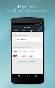 screenshot of Western Union for Belgium, Luxembourg, Switzerland version 1.7