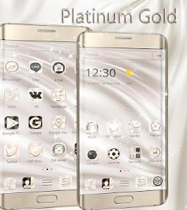 Download Silk White Gold Theme Elegance 1.1.8 APK