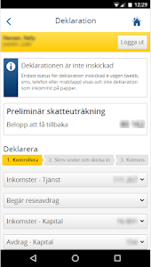 screenshot of Skatteverket version 2018.3.1