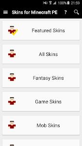 screenshot of Skins for Minecraft PE version 7.2