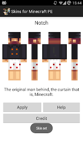 screenshot of Skins for Minecraft PE version 5.1