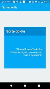 screenshot of Sorte do dia version 1.0