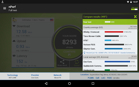 Download Speed test 3G, 4G LTE, WiFi & network coverage map 2.3.12 APK