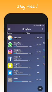 screenshot of StayFree - Phone Usage Tracker & Overuse Reminder version 3.0.5
