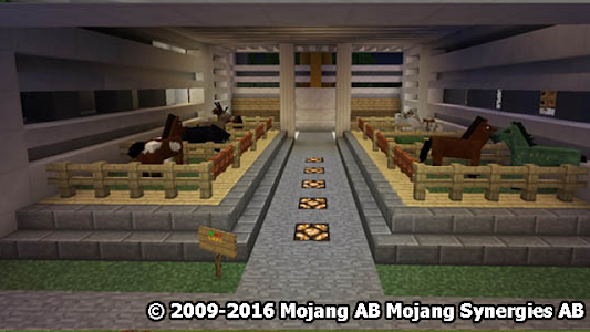 screenshot of Super Mansion MCPE map version 1.6
