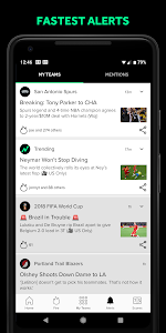 screenshot of Bleacher Report: sports news, scores, & highlights version Varies with device