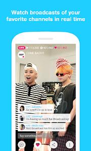 screenshot of V – Live Broadcasting APP version 1.2.2