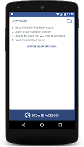 screenshot of Video Downloader Instant version 2.3