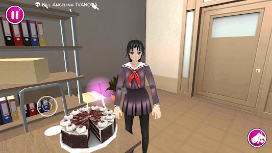 screenshot of Yandere School version 1.0.4