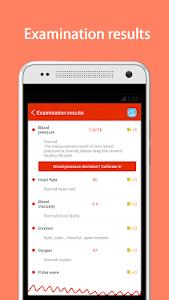 screenshot of iCare Health Monitor (BP & HR) version 3.4.8