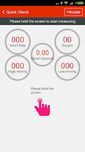 screenshot of iCare Health Monitor version 2.7.2