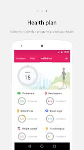screenshot of iCare Body Check version 1.8.2