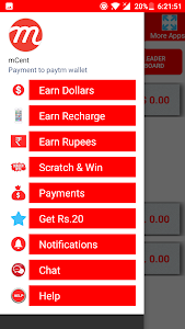 screenshot of mcent - free mobile recharge version 1.0